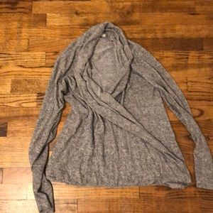 Pure Good Gray wrap sweater